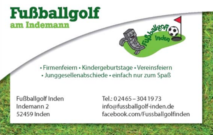 Fussballgolf am Indemann